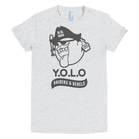 """ YOLO "" fine jersey short sleeves women t-shirt (LADIES CUT ONLY)"