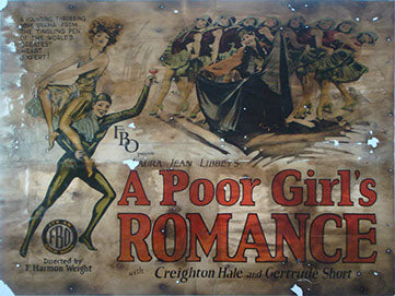 A Poor Girls Romance Pre-Linen Backing Vintage Movie Poster