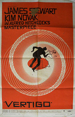 Vertigo Pre-Linen Backing Vintage Movie Poster