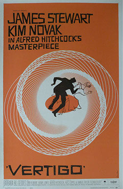 Vertigo Linen Backed Vintage Movie Poster