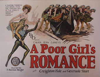 A Poor Girls Romance Linen-Backed Vintage Movie Poster