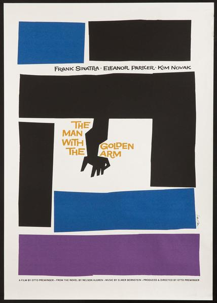 Saul Bass The Man With The Golden Arm Original Vintage Movie Poster
