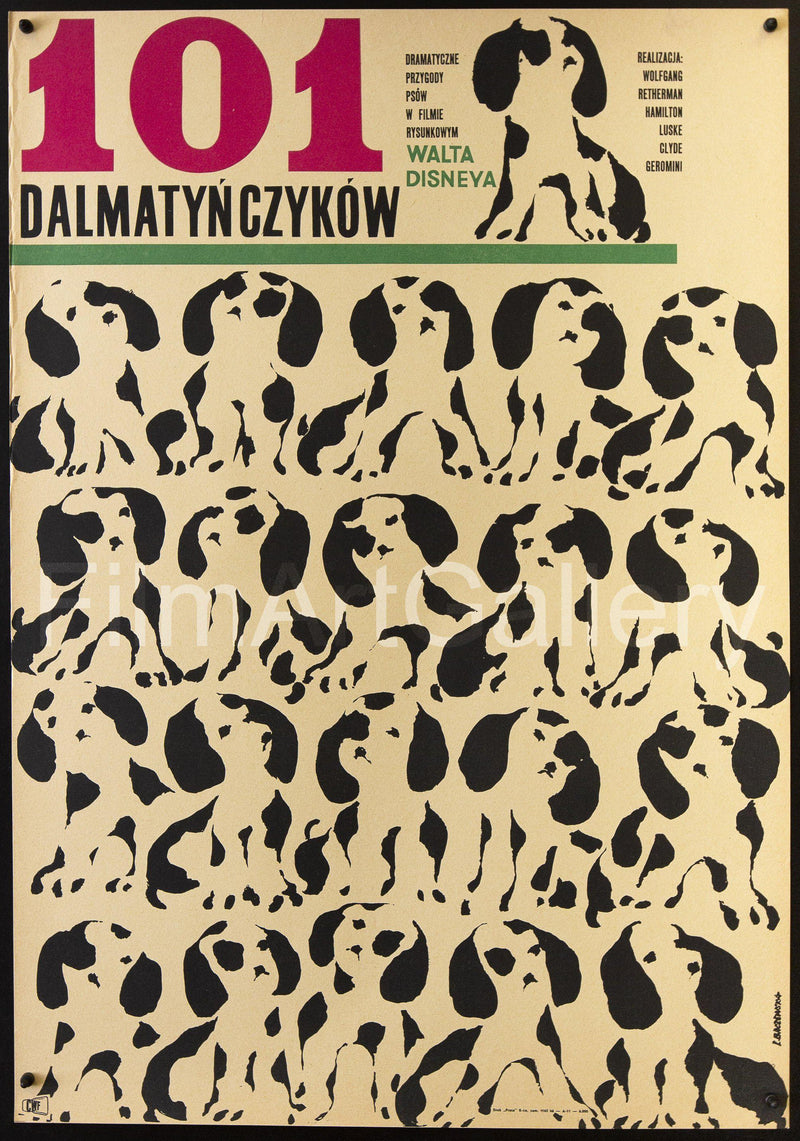 101 Dalmatians Polish A1 (23x33) Original Vintage Movie Poster