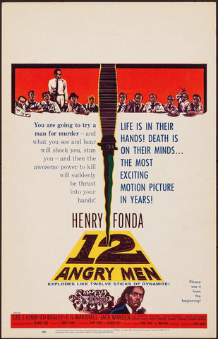 12 Angry Men Window Card (14x22) Original Vintage Movie Poster