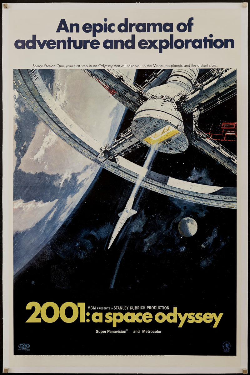 2001 A Space Odyssey 1 Sheet (27x41) Original Vintage Movie Poster