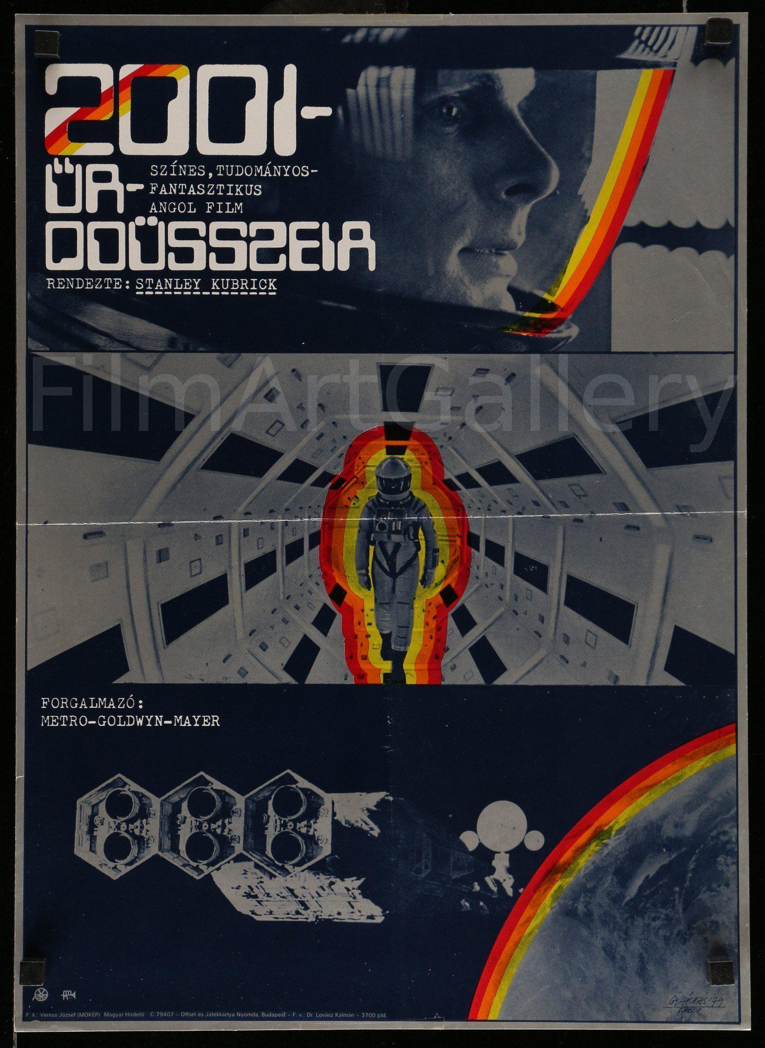2001 A Space Odyssey 16x22 Original Vintage Movie Poster