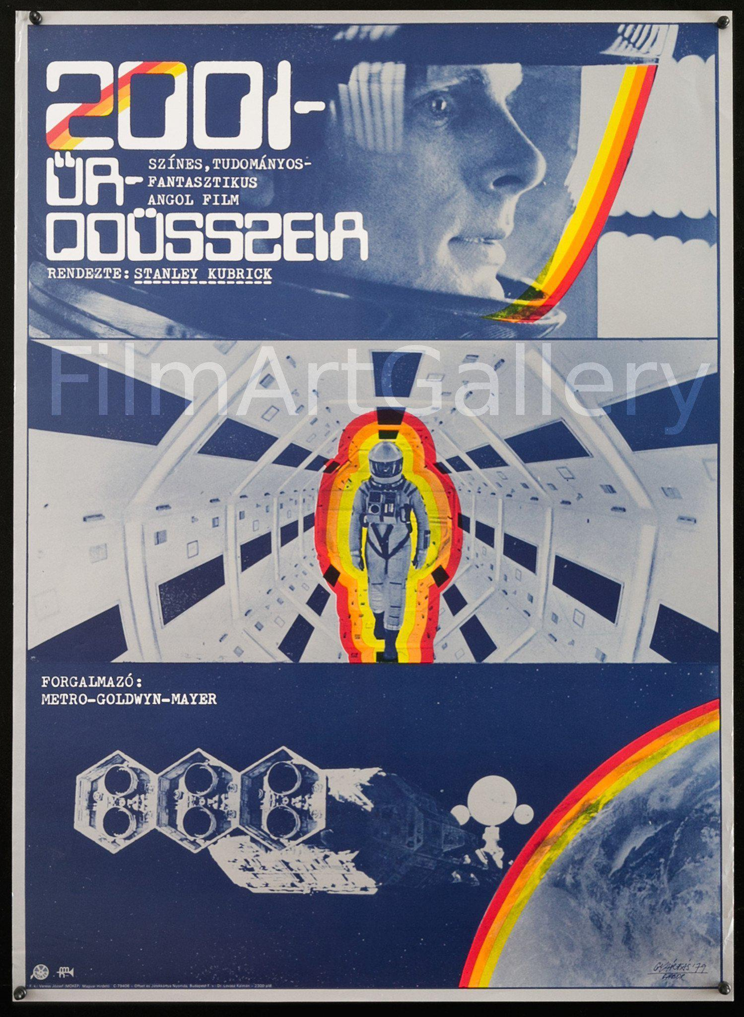 2001 A Space Odyssey 22x30 Original Vintage Movie Poster