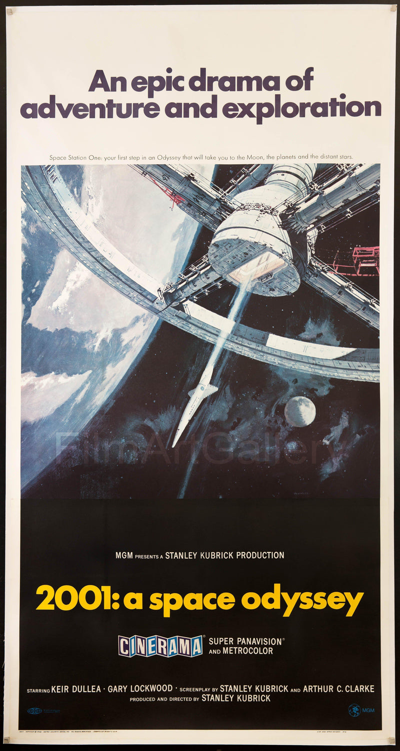 2001 A Space Odyssey 3 Sheet (41x81) Original Vintage Movie Poster