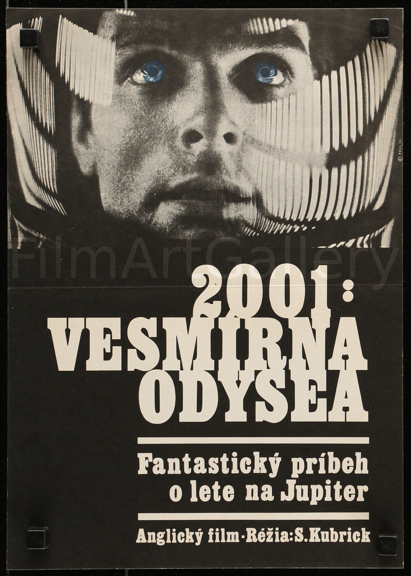 2001 A Space Odyssey Czech mini (11x16) Original Vintage Movie Poster