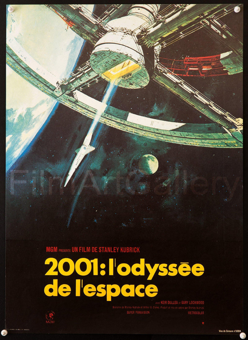 2001 A Space Odyssey French mini (16x23) Original Vintage Movie Poster