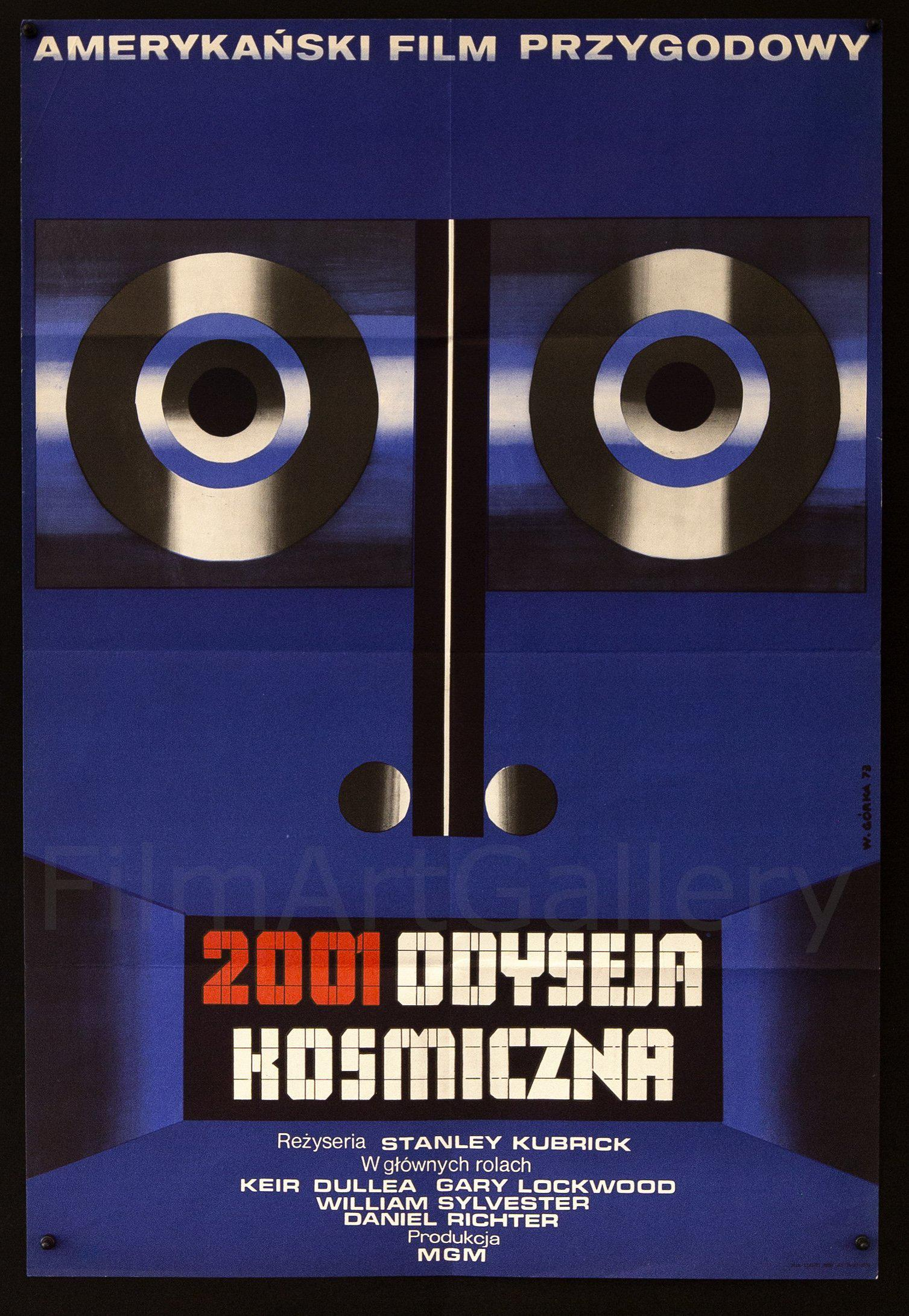 2001 A Space Odyssey Polish A1 (23x33) Original Vintage Movie Poster