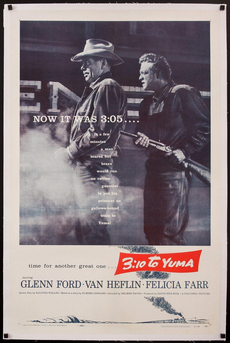 3:10 To Yuma 1 Sheet (27x41) Original Vintage Movie Poster