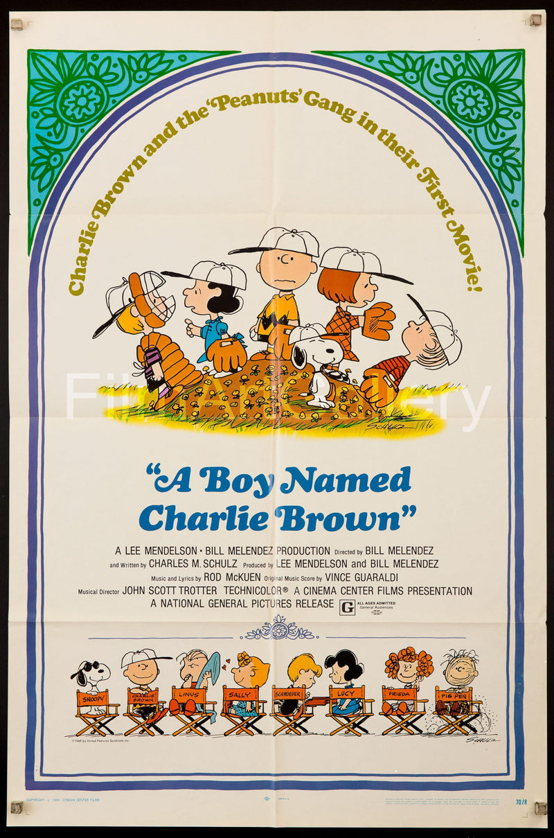 A Boy Named Charlie Brown 1 Sheet (27x41) Original Vintage Movie Poster