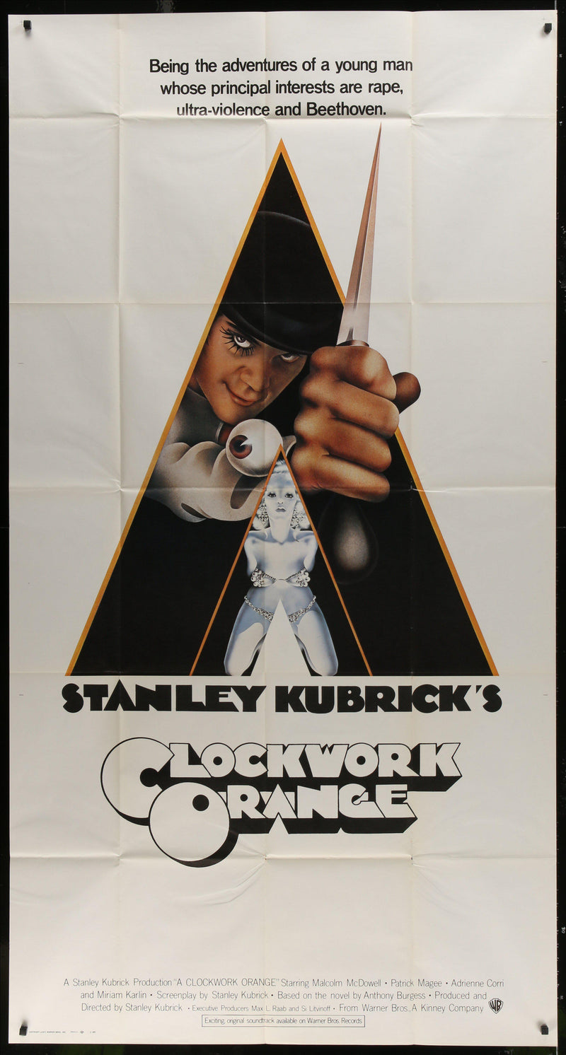 A Clockwork Orange 3 Sheet (41x81) Original Vintage Movie Poster