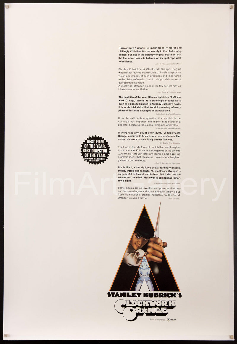 A Clockwork Orange 40x60 Original Vintage Movie Poster