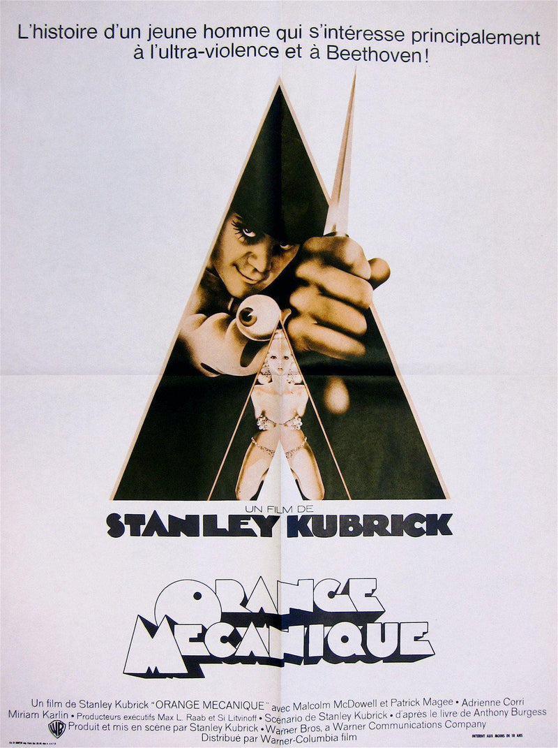 A Clockwork Orange French small (23x32) Original Vintage Movie Poster