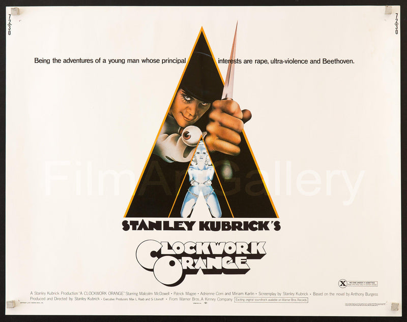 A Clockwork Orange Half Sheet (22x28) Original Vintage Movie Poster