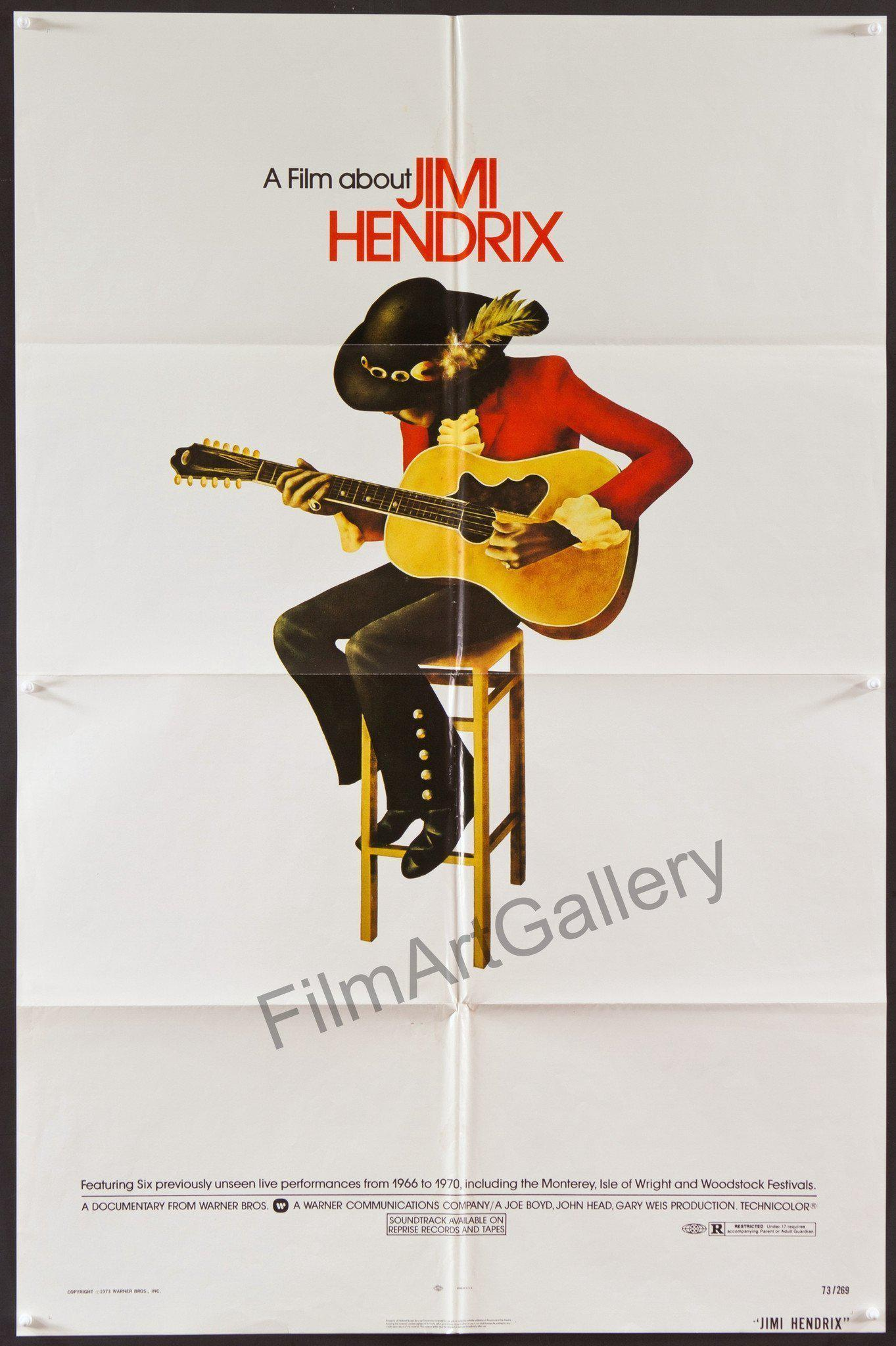 (A Film About) Jimi Hendrix 1 Sheet (27x41) Original Vintage Movie Poster