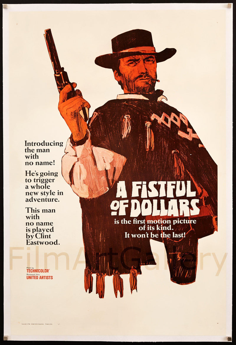 A Fistful of Dollars 1 Sheet (27x41) Original Vintage Movie Poster