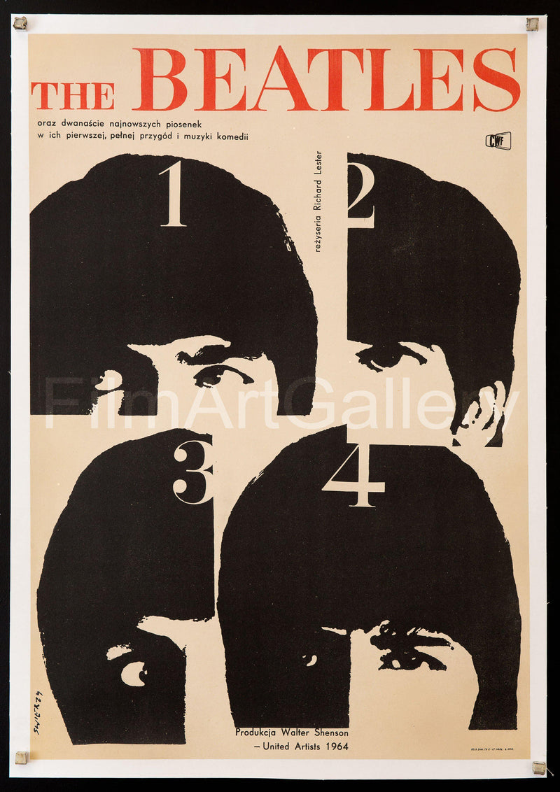 A Hard Day's Night Polish A1 (23x33) Original Vintage Movie Poster