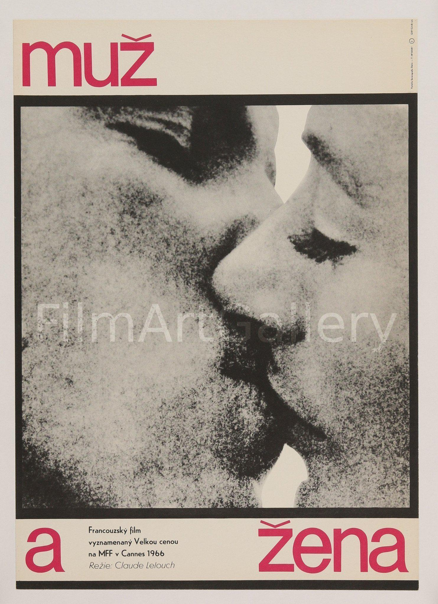 A Man and A Woman (Un Homme et Une Femme) Czech Mini (11x16) Original Vintage Movie Poster