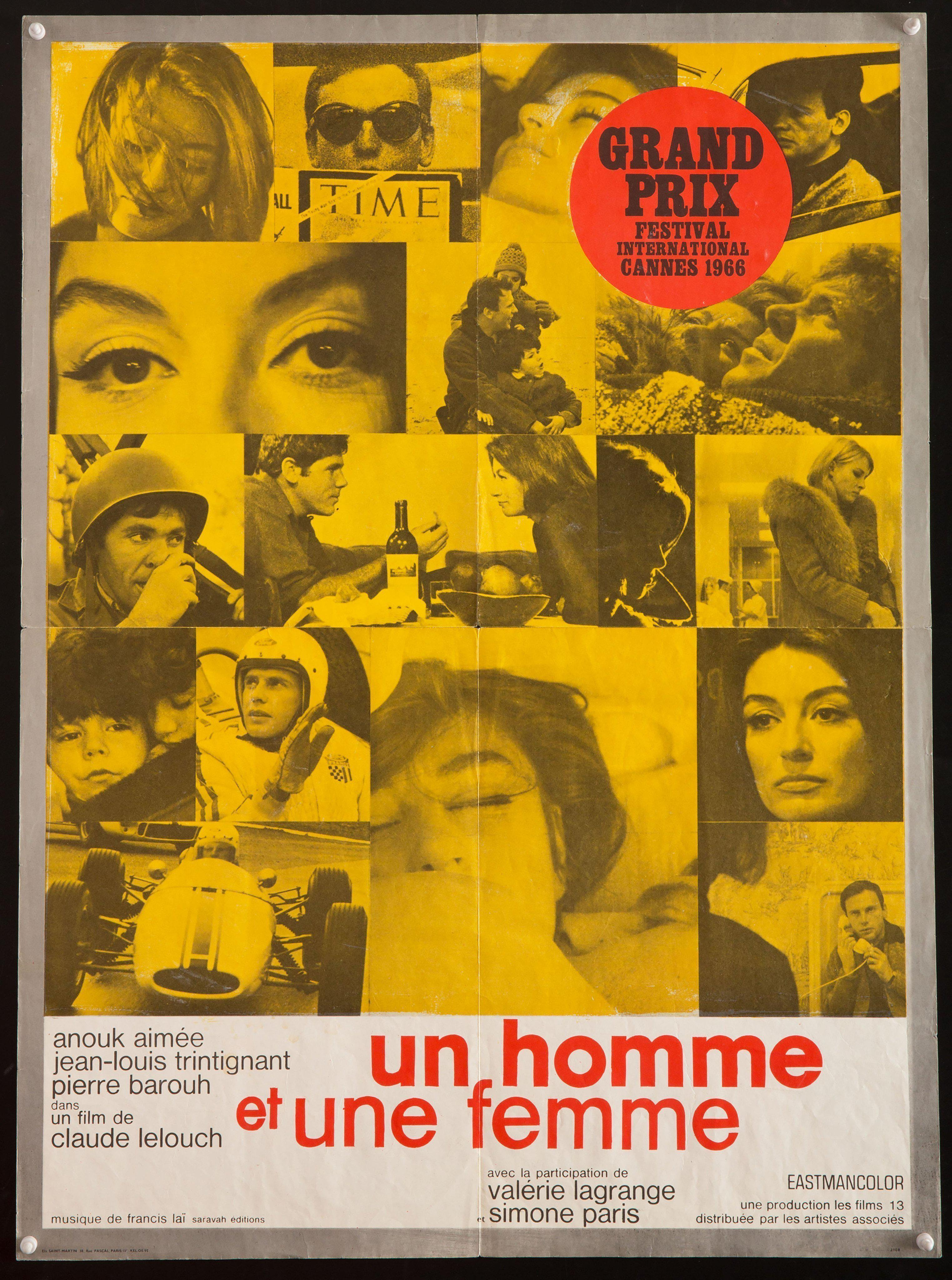 A Man and a Woman (Un Homme et Une Femme) French Small (23x32) Original Vintage Movie Poster