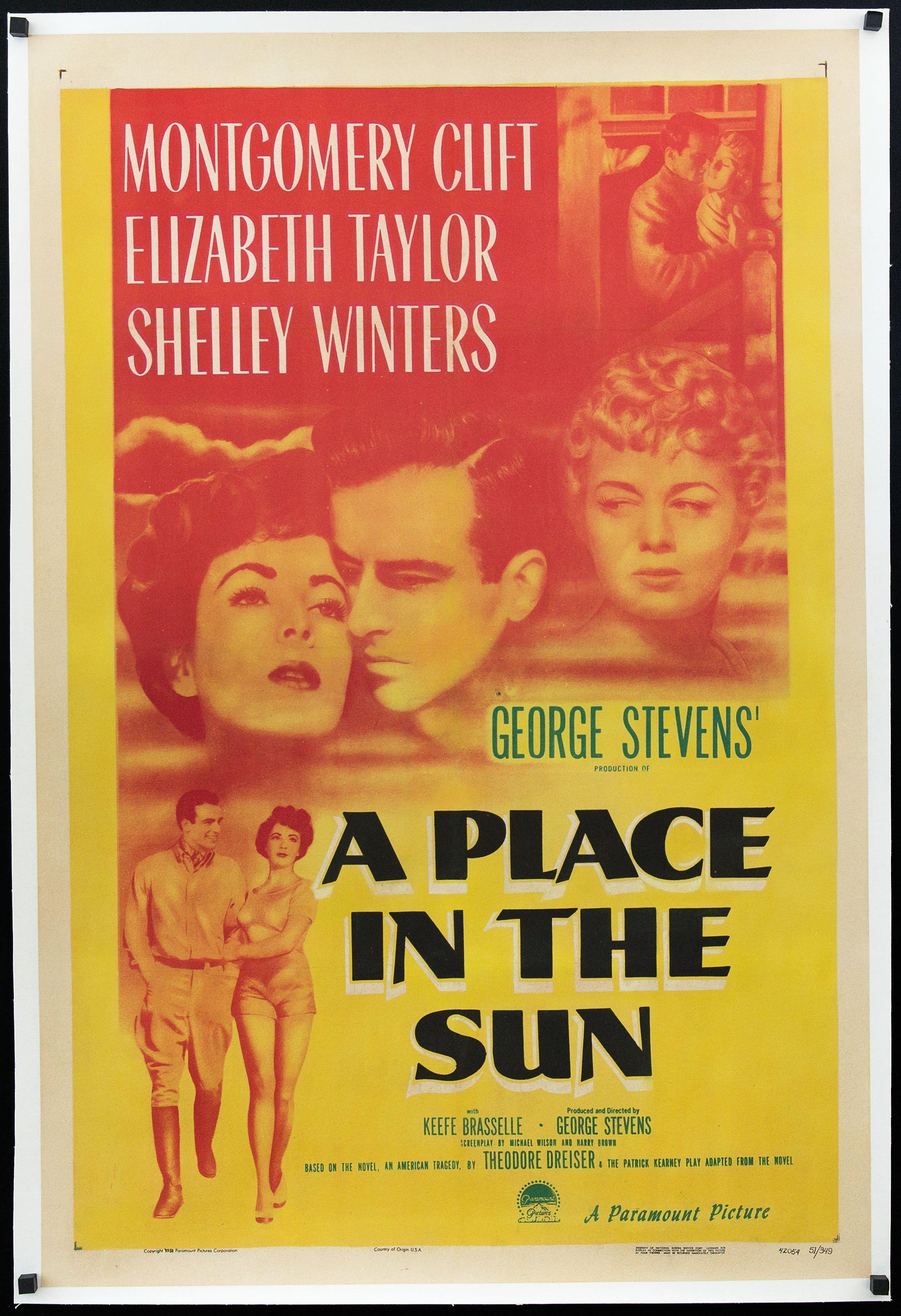 A Place In the Sun 1 Sheet (27x41) Original Vintage Movie Poster