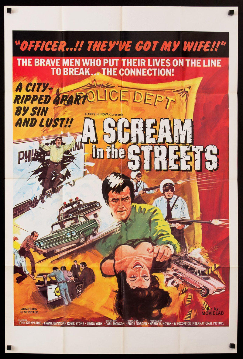A Scream In the Streets 1 Sheet (27x41) Original Vintage Movie Poster
