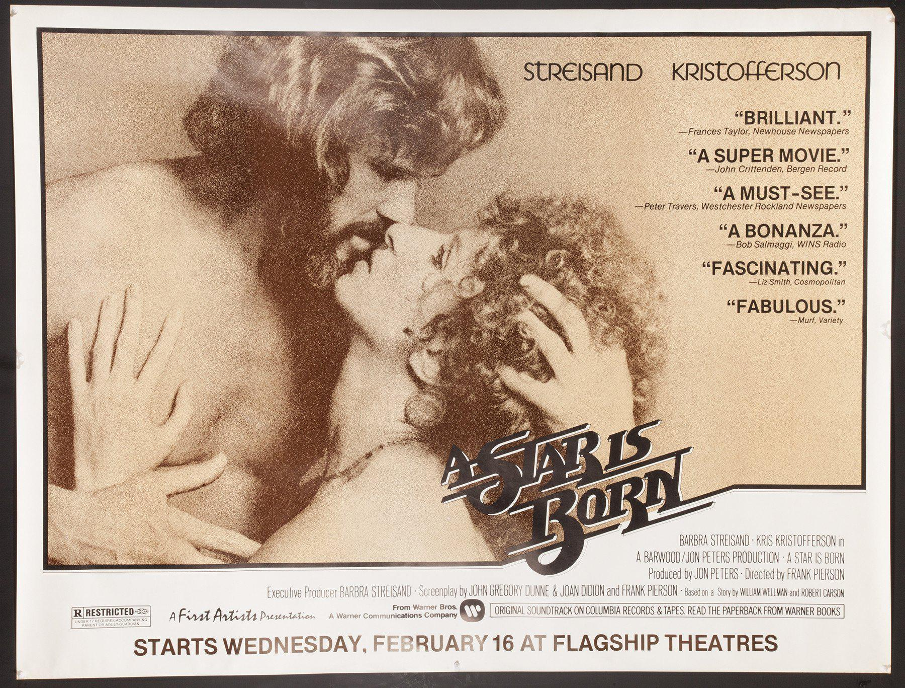 A Star is Born Subway 2 sheet (45x59) Original Vintage Movie Poster