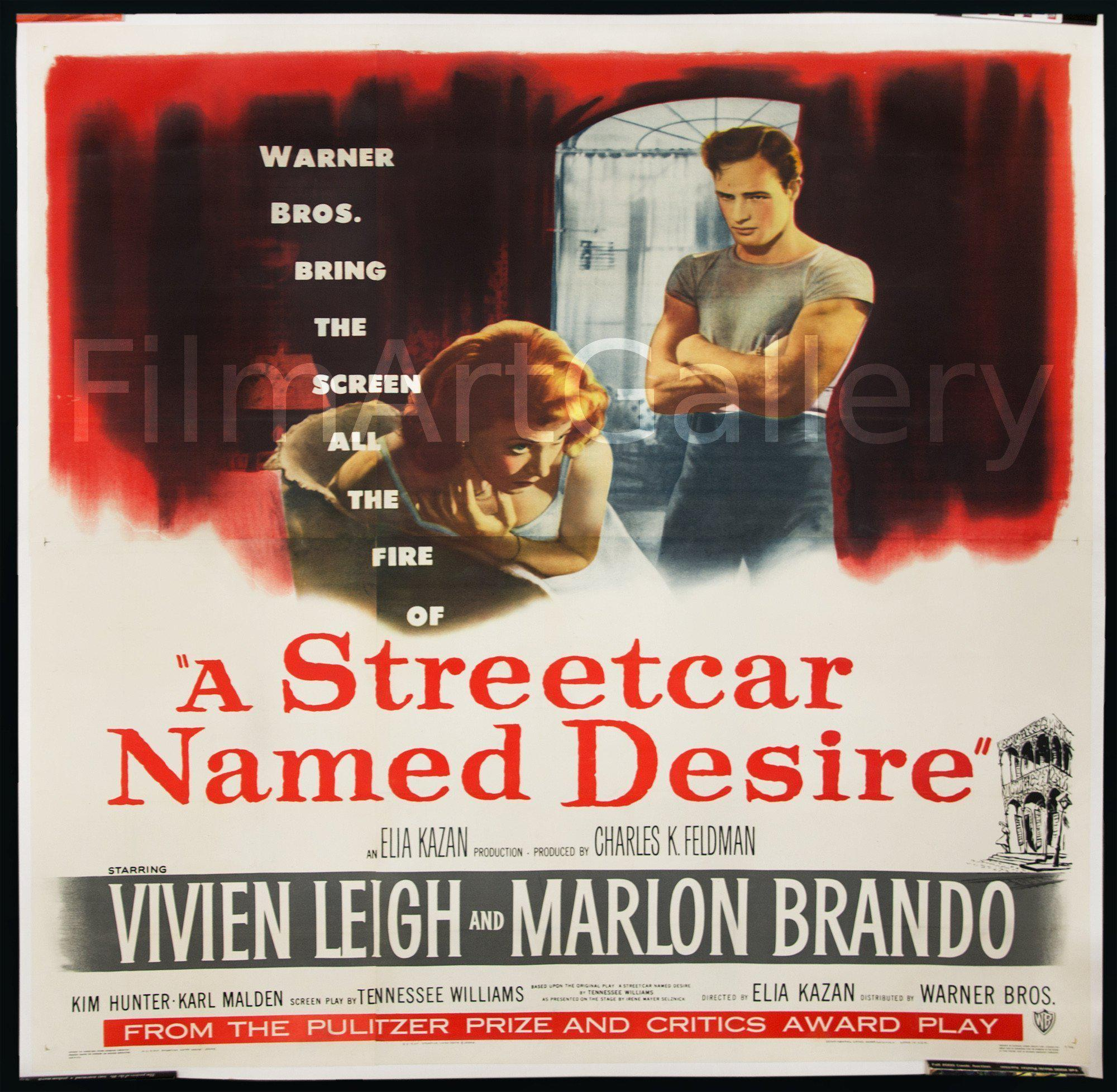 A Streetcar Named Desire 6 Sheet (81x81) Original Vintage Movie Poster