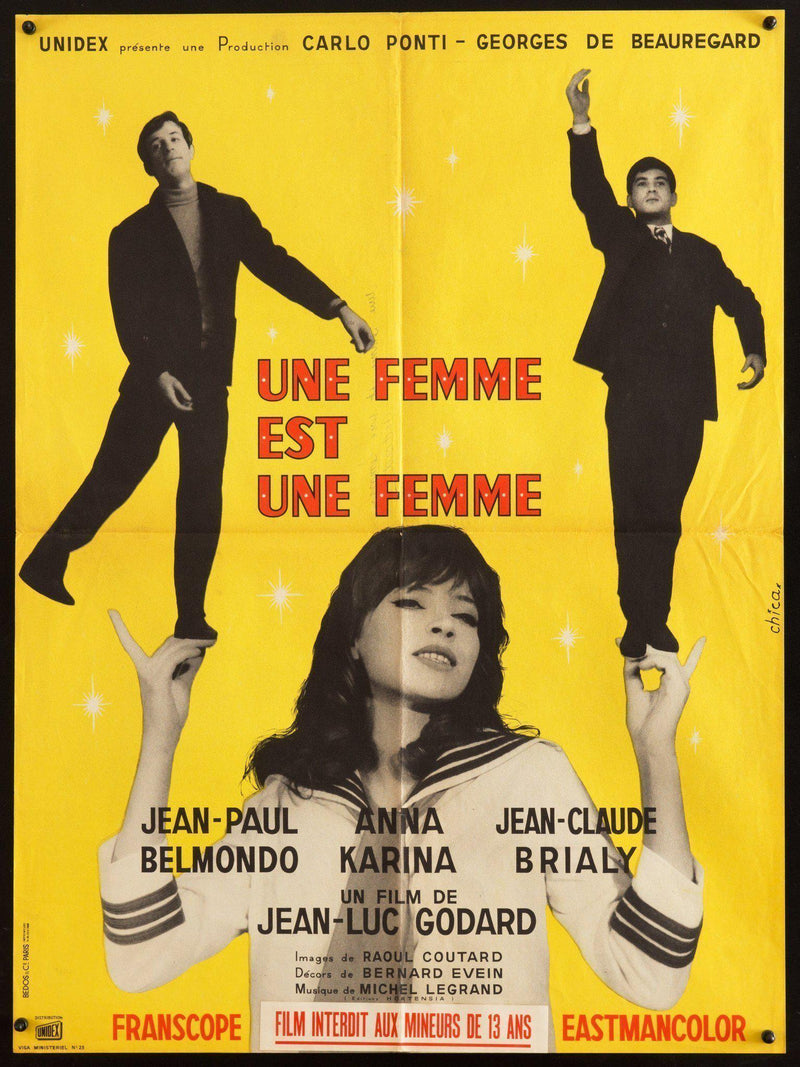 A Woman Is a Woman (Une Femme Est Une Femme) French Small (23x32) Original Vintage Movie Poster