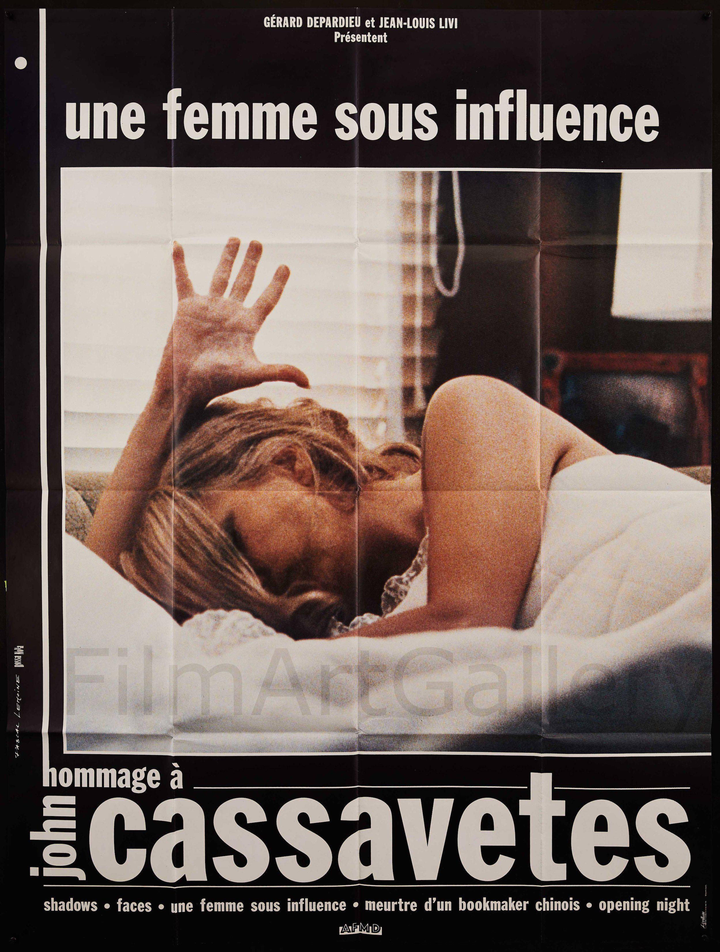 A Woman Under the Influence French 1 panel (47x63) Original Vintage Movie Poster