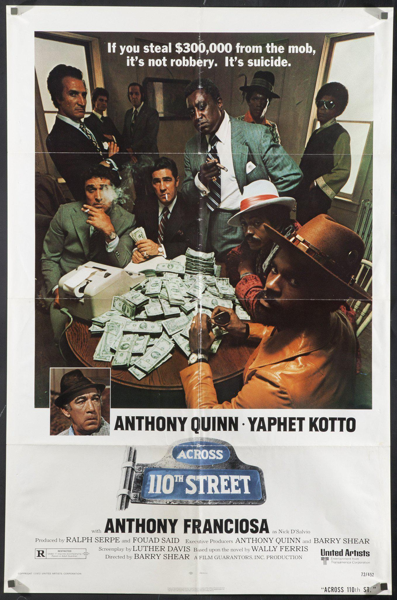 Across 110th Street 1 Sheet (27x41) Original Vintage Movie Poster