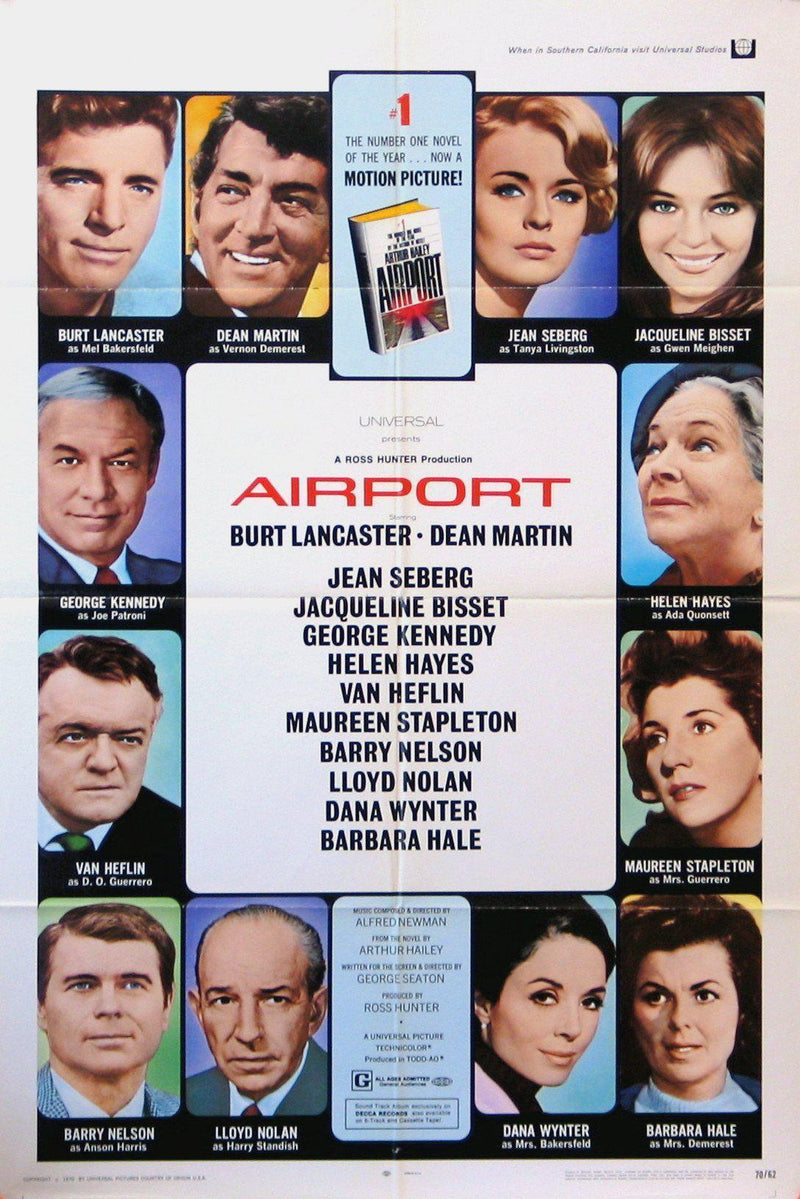 Airport 1 Sheet (27x41) Original Vintage Movie Poster