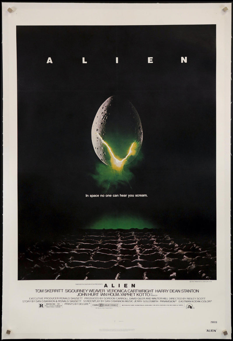 Alien 1 Sheet (27x41) Original Vintage Movie Poster