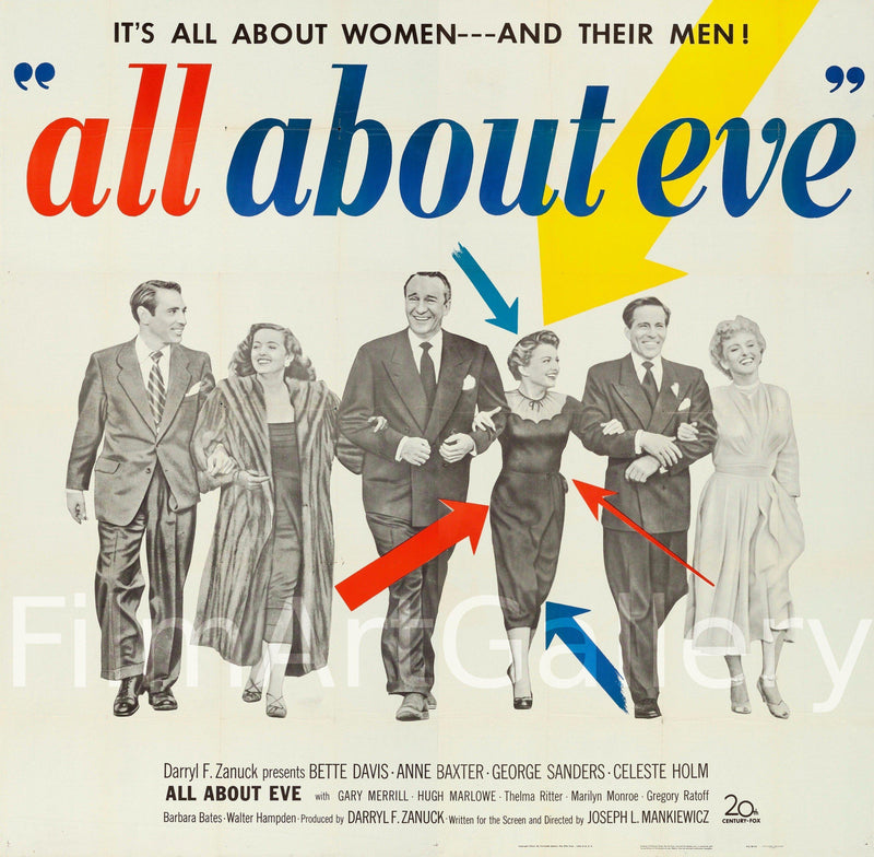 All About Eve 6 Sheet (81x81) Original Vintage Movie Poster