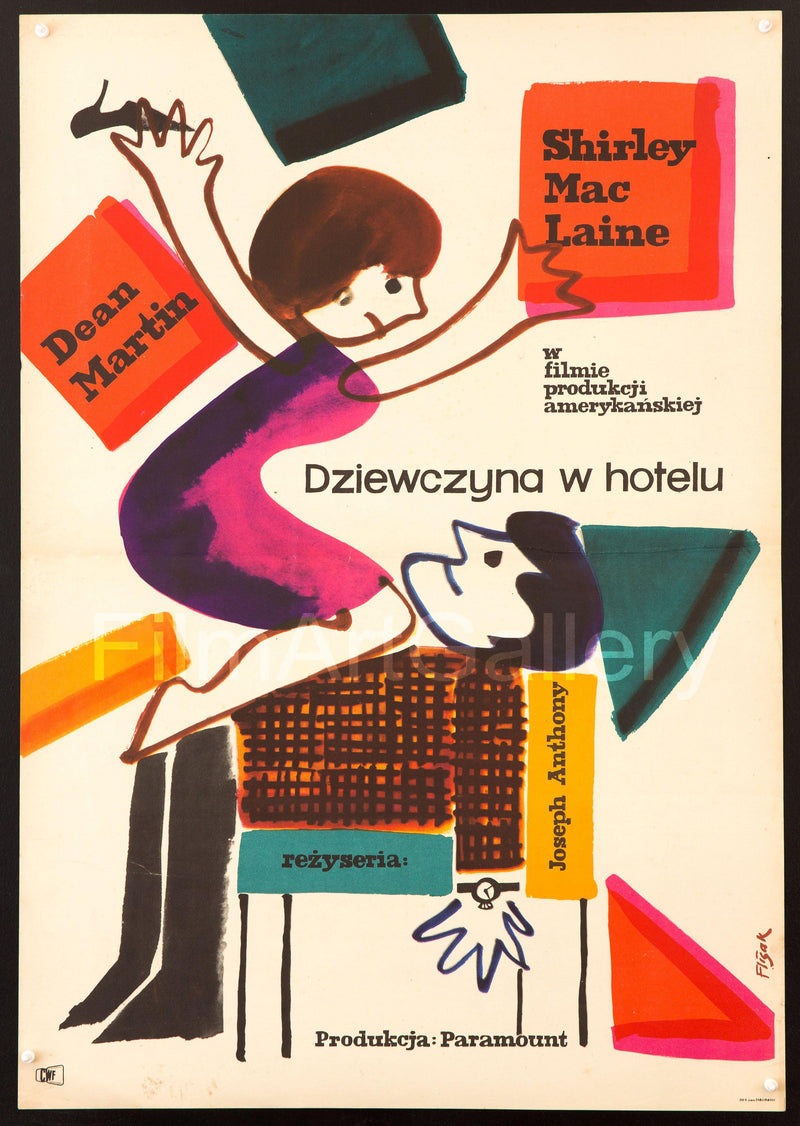 All In a Night's Work Polish A1 (23x33) Original Vintage Movie Poster