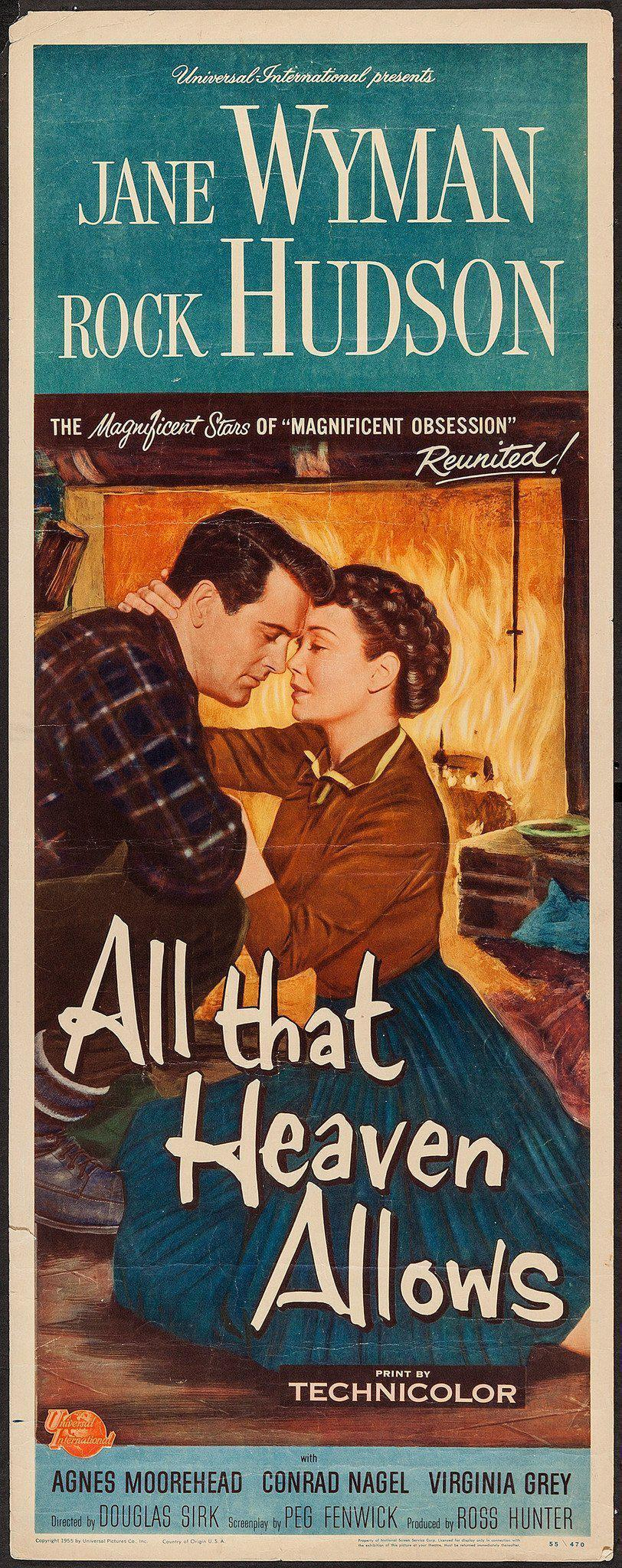 All That Heaven Allows Insert (14x36) Original Vintage Movie Poster