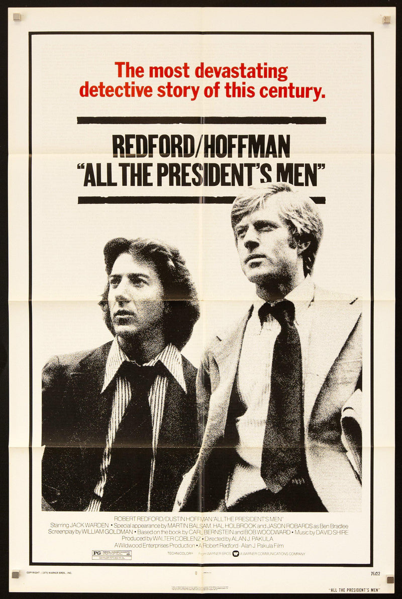 All the President's Men 1 Sheet (27x41) Original Vintage Movie Poster