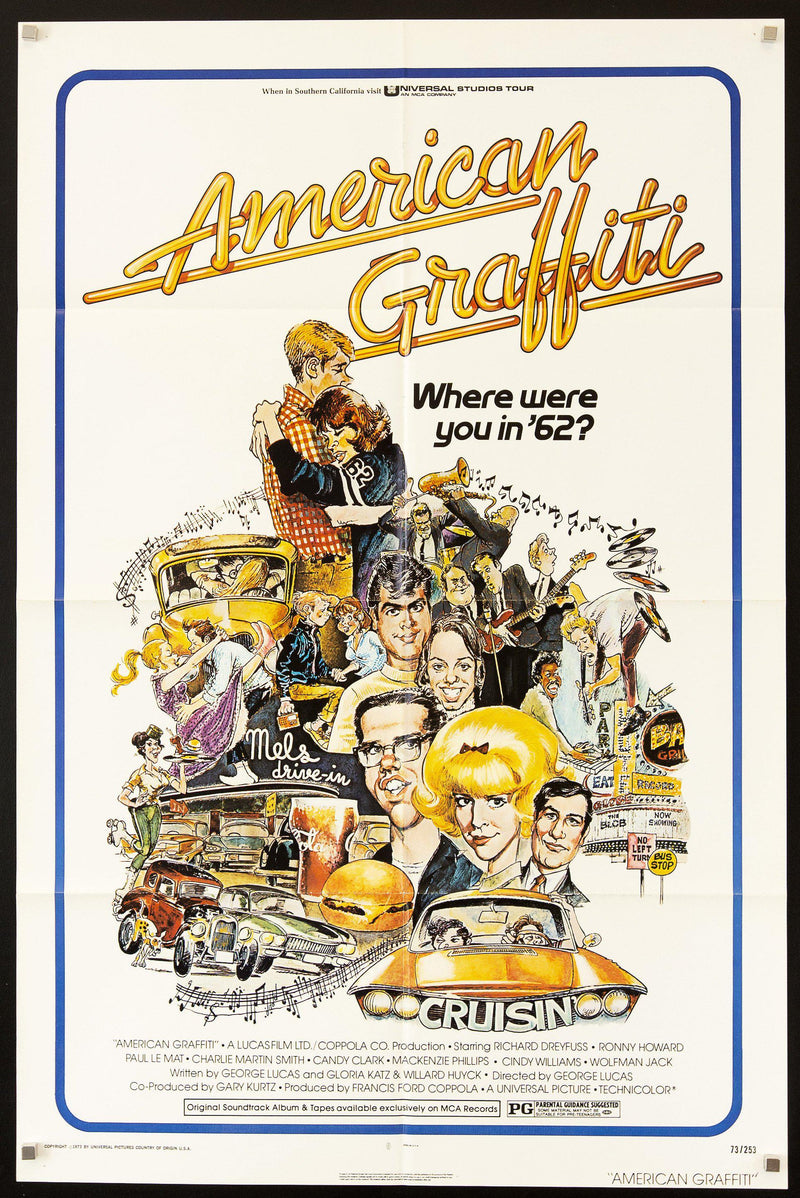 American Graffiti 1 Sheet (27x41) Original Vintage Movie Poster