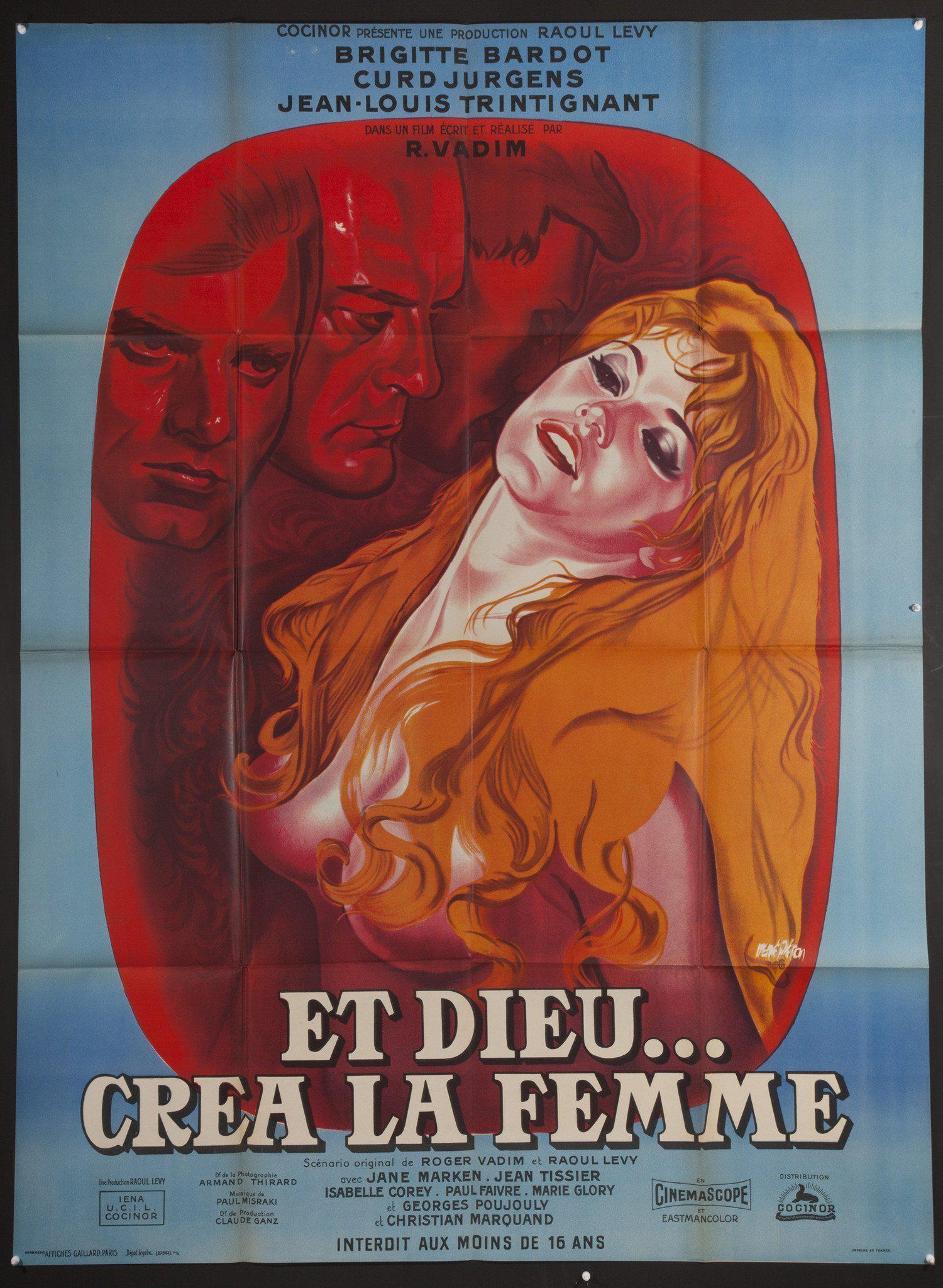 And God Created Woman (Et Dieu Crea La Femme) French 1 panel (47x63) Original Vintage Movie Poster