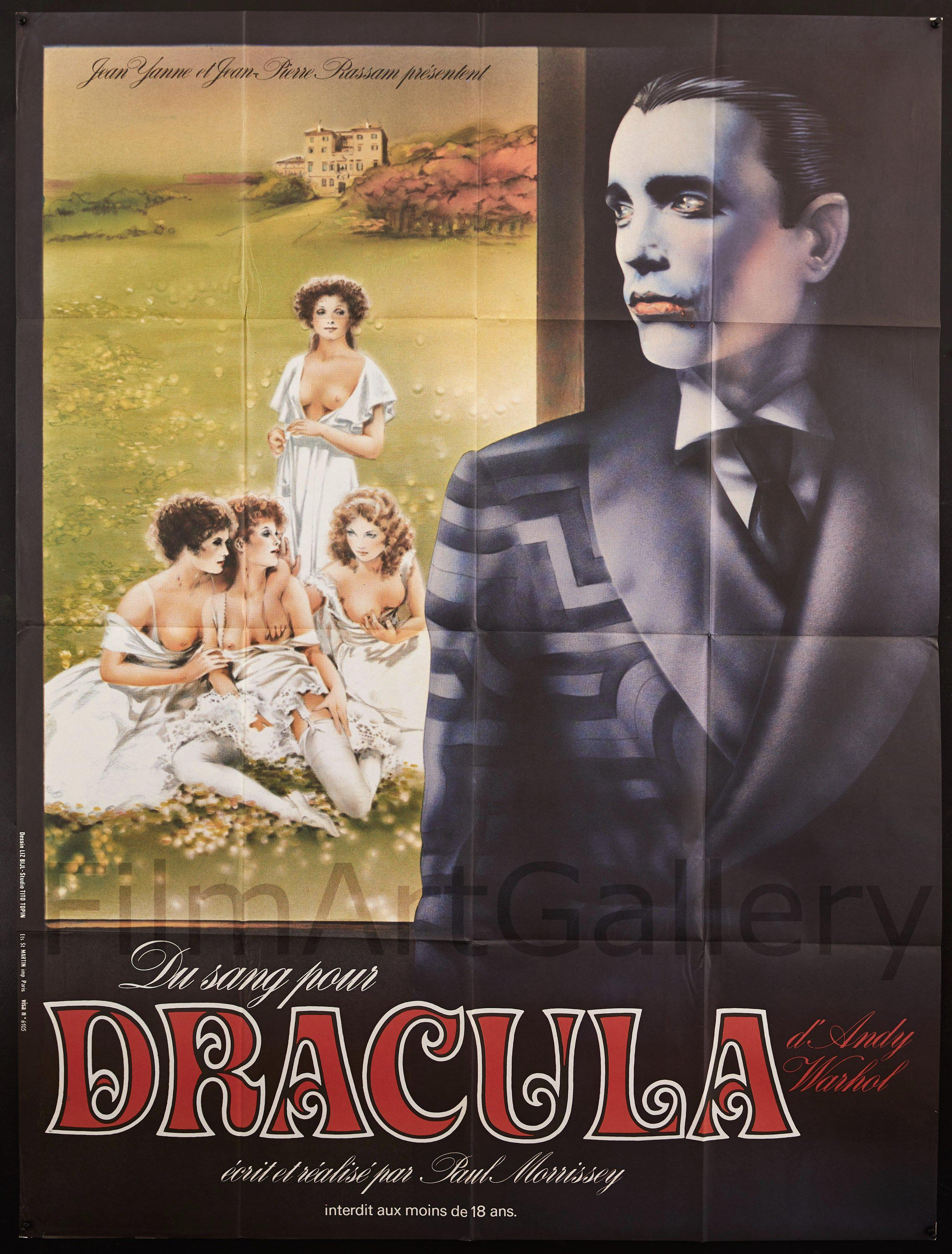Andy Warhol's Dracula French 1 panel (47x63) Original Vintage Movie Poster