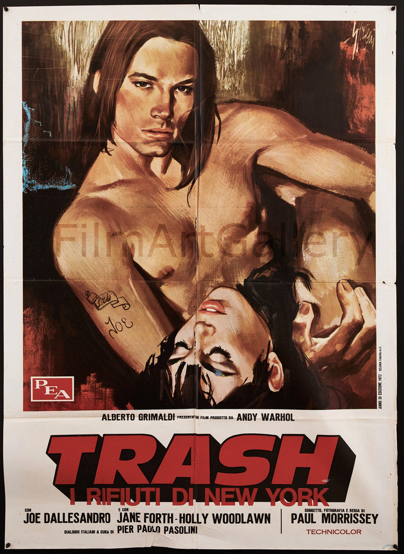Andy Warhol's Trash Italian 2 foglio (39x55) Original Vintage Movie Poster