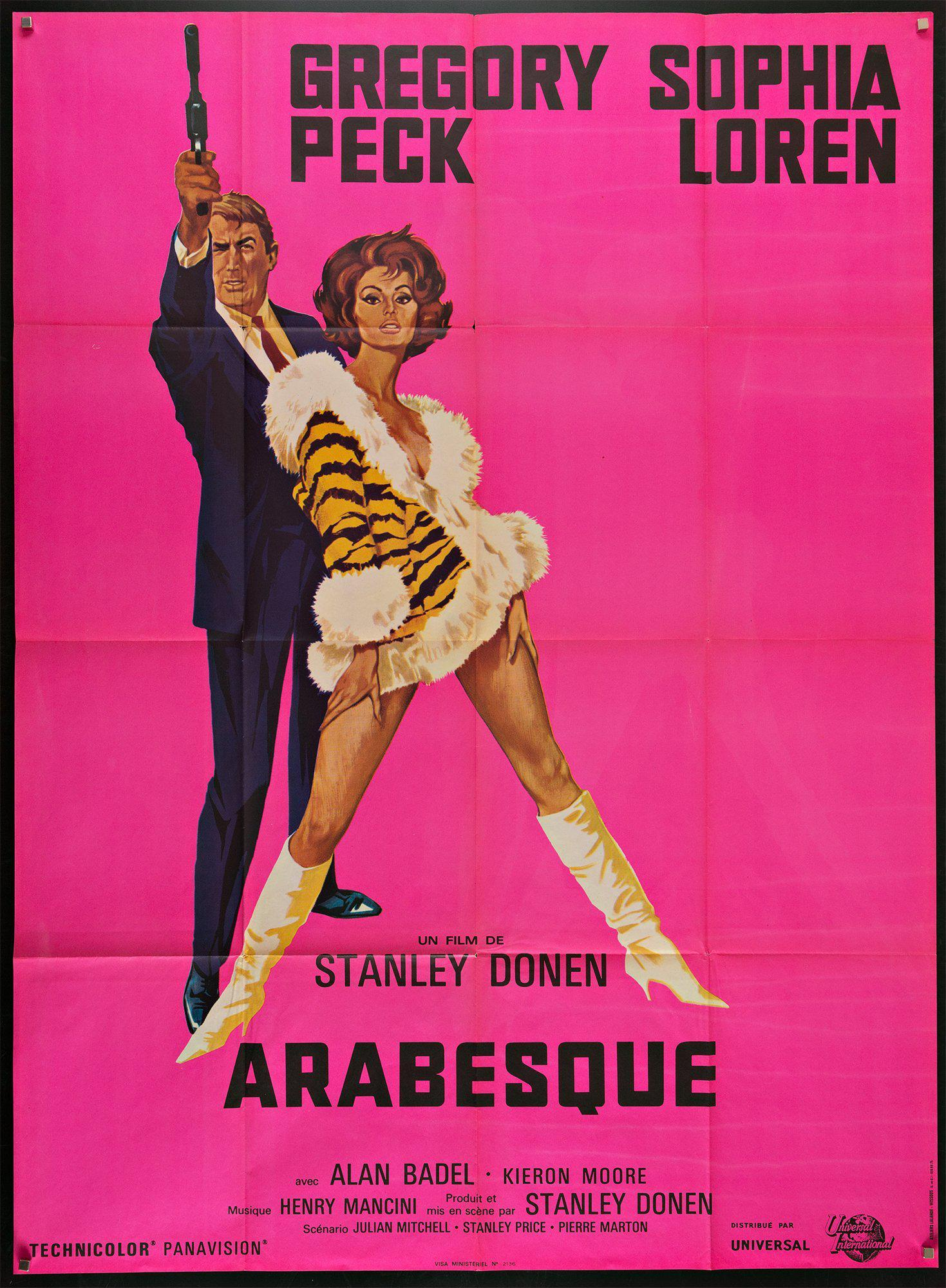 Arabesque French 1 panel (47x63) Original Vintage Movie Poster