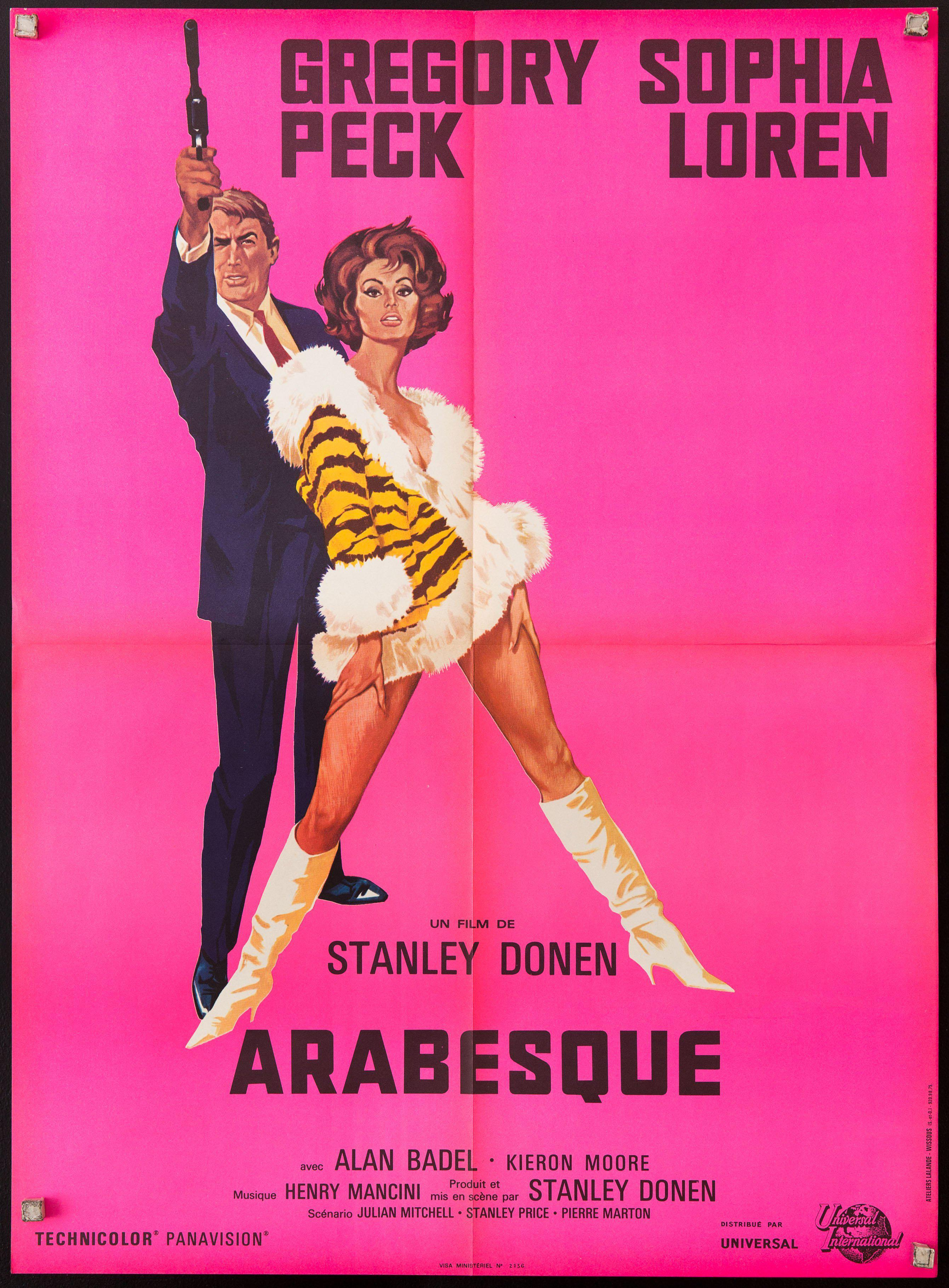 Arabesque French Small (23x32) Original Vintage Movie Poster