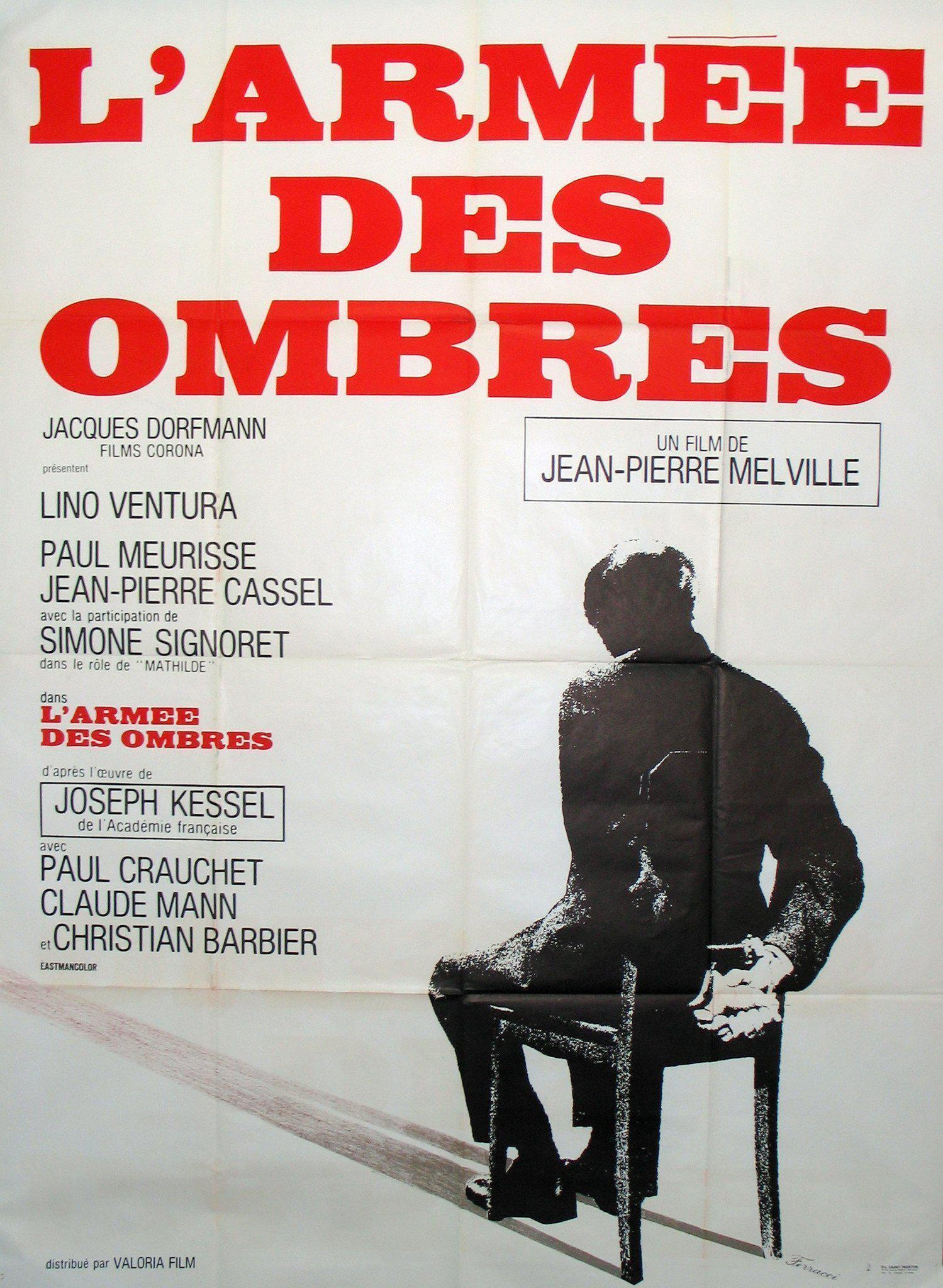 Army of Shadows (L'Armee des Ombres) French 1 panel (47x63) Original Vintage Movie Poster