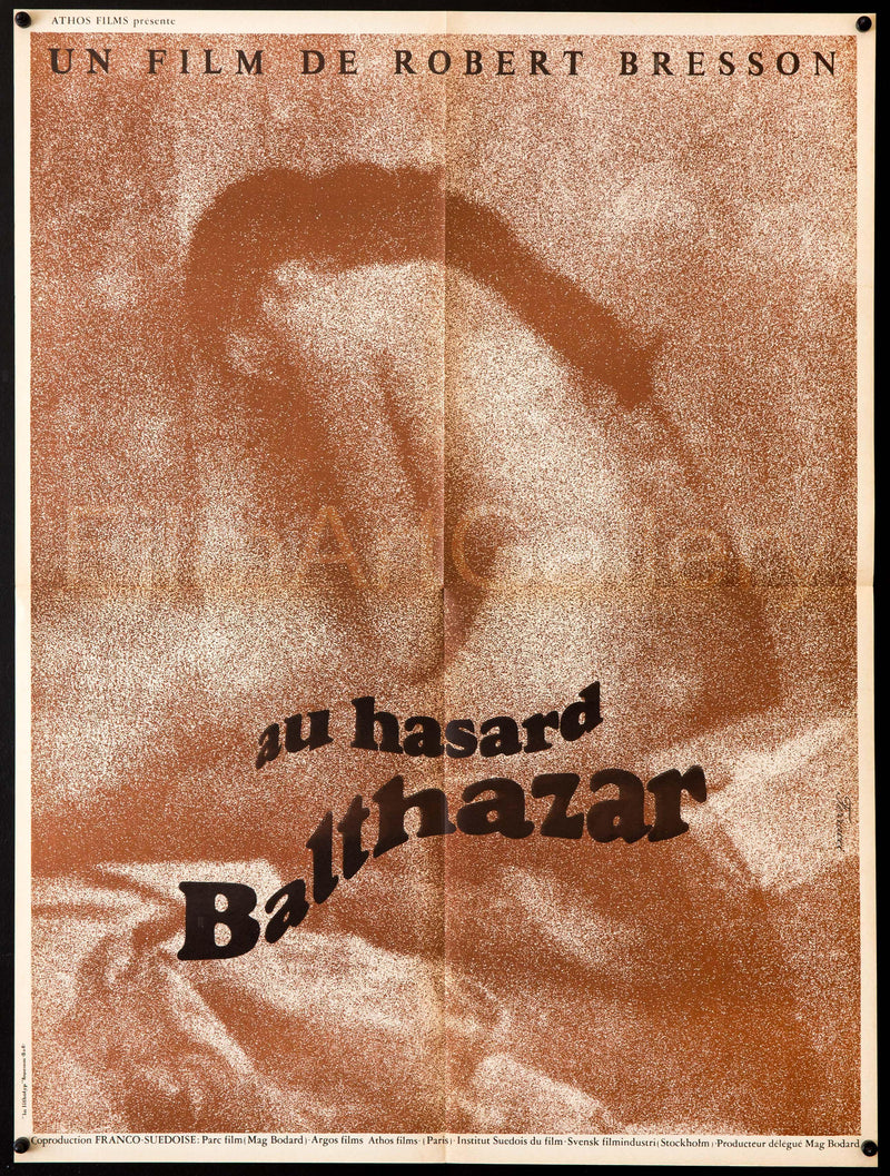 Au Hasard Balthazar French Small (23x32) Original Vintage Movie Poster