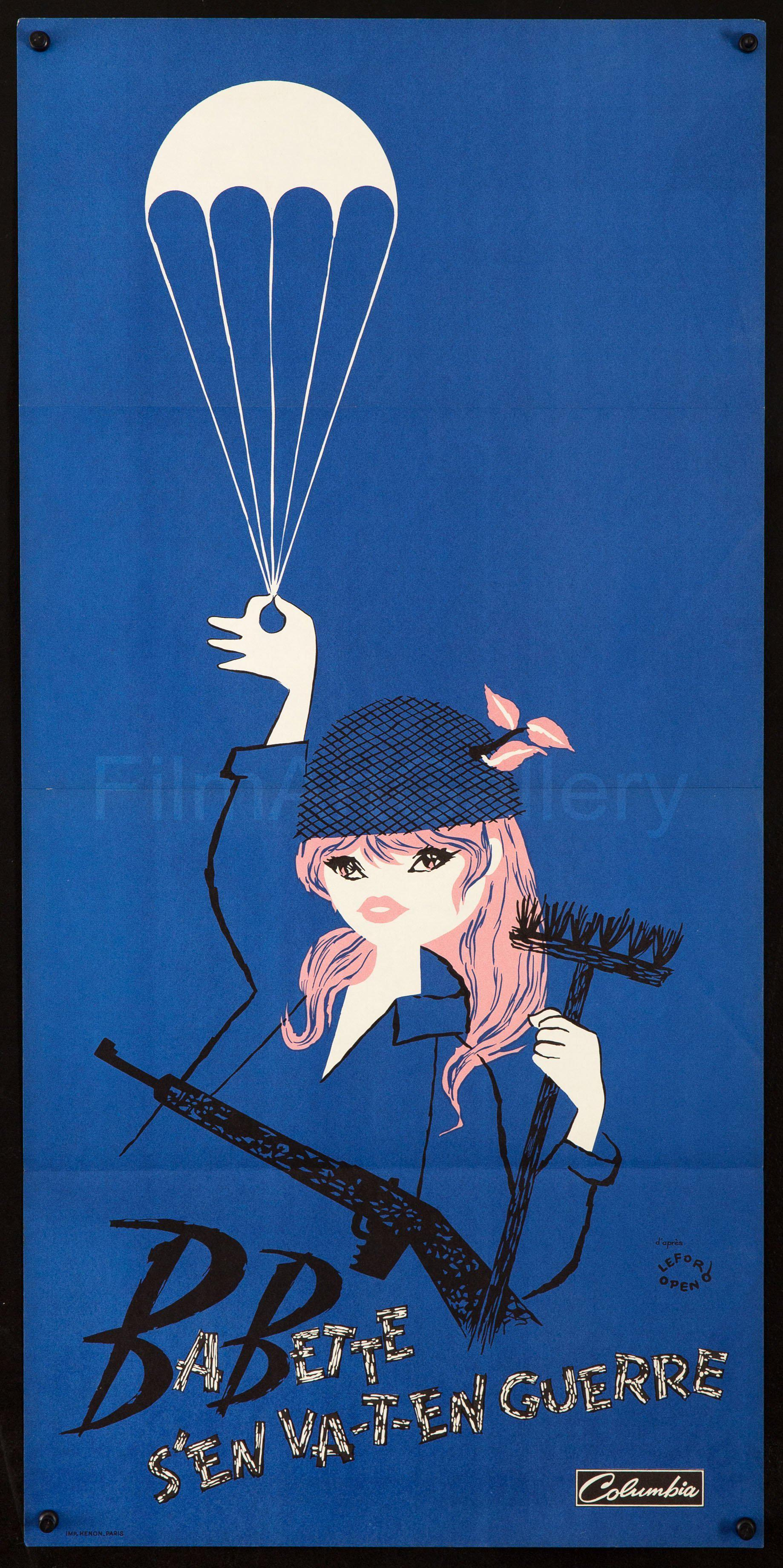 Babette S En Va T En Guerre (BB Goes to War) 15x31 Original Vintage Movie Poster