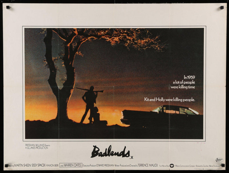 Badlands British Quad (30x40) Original Vintage Movie Poster