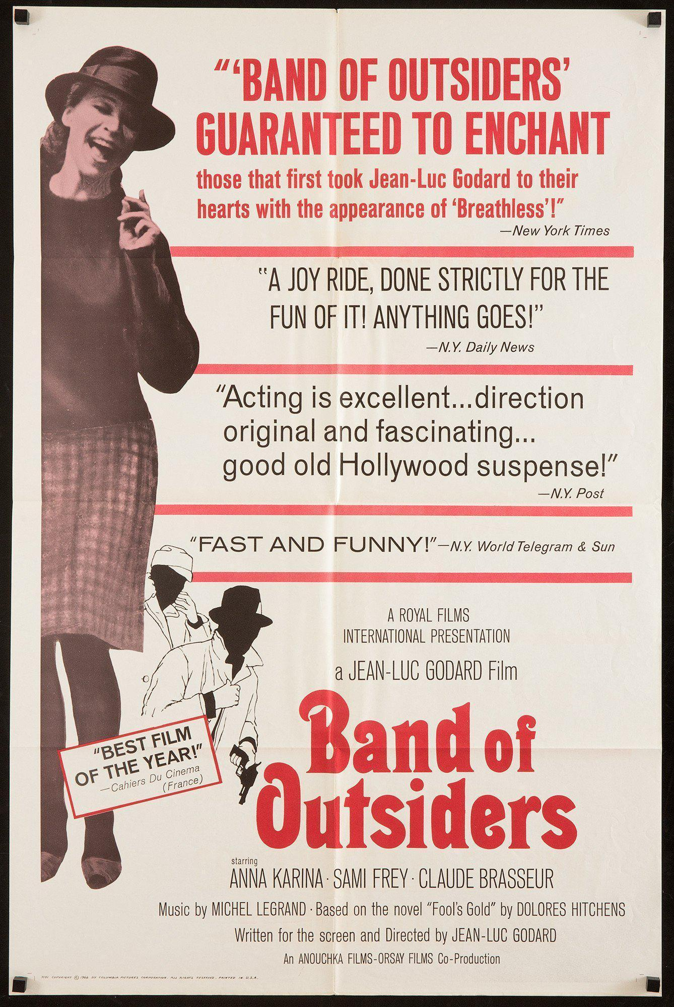Band of Outsiders (Bande A Part) 1 Sheet (27x41) Original Vintage Movie Poster
